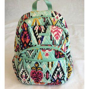 Vera Bradley Quilted Backpack Pueblo Green Aztec